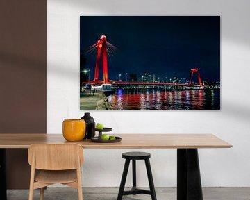 Willemsbrug Rotterdam van Hans Vos Fotografie