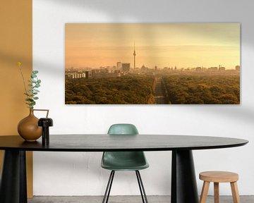 Berlin Skyline im Sonnenaufgang