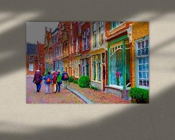 Herumwandern in Dordrecht