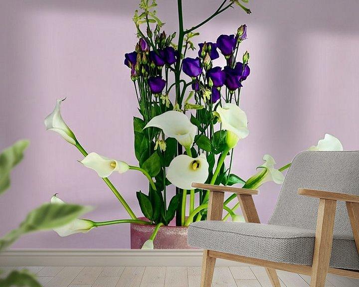 Impression: Bouquet violet et blanc sur Roelina Holtrop