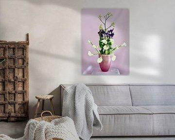 Bouquet violet et blanc