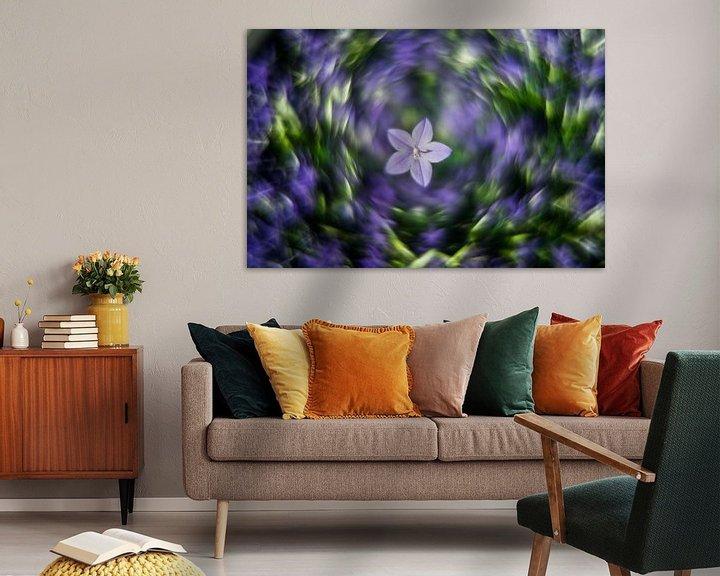 Beispiel: blaue Blume von Udo Wanninger limitiete Auflage