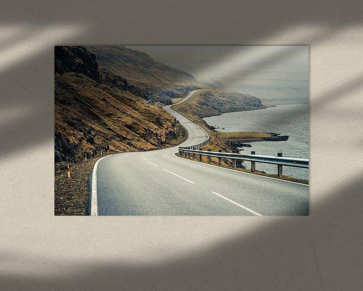 Sfeerimpressie: Weg op de Faeröer Eilanden van Expeditie Aardbol