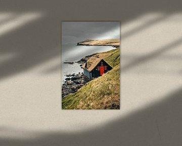 Sprookjeshuisje op de Faeröer Eilanden van Expeditie Aardbol
