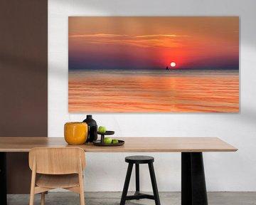 Zonsondergang aan de Oostzee, Duitsland van Adelheid Smitt