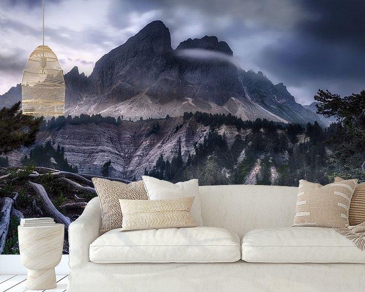 Beispiel fototapete: Alpenpanorama in den Dolomiten in Italien im mystischen Licht von Voss Fine Art Fotografie