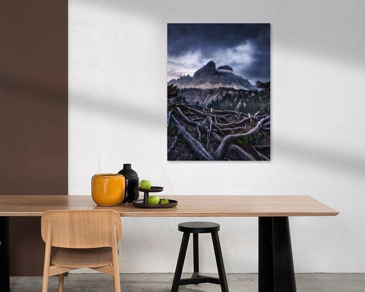 Beispiel: Alpenpanorama in den Dolomiten in Italien im mystischen Licht von Voss Fine Art Fotografie