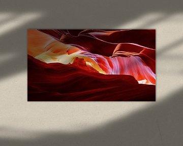 De kleuren van Antelope Canyon, Verenigde Staten van Adelheid Smitt