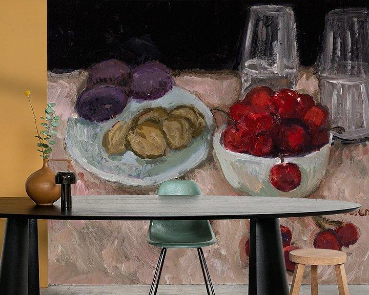 Sfeerimpressie behang: Walnoten thuis van Tanja Koelemij