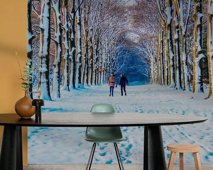 Beispiel fototapete: Malerische Schönheit des Winters von PhotoManiX Digital Photography
