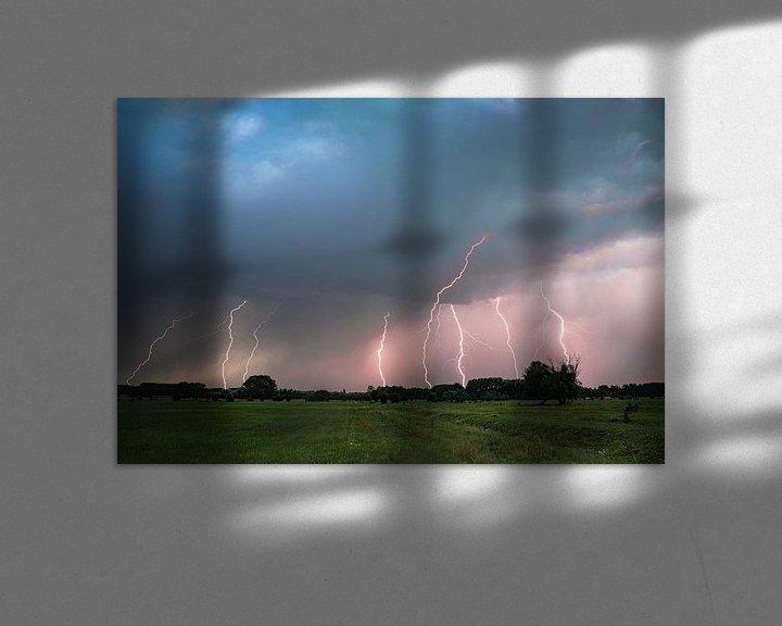Beispiel: Starkes Gewitter mit Blitzeinschlägen von Menno van der Haven