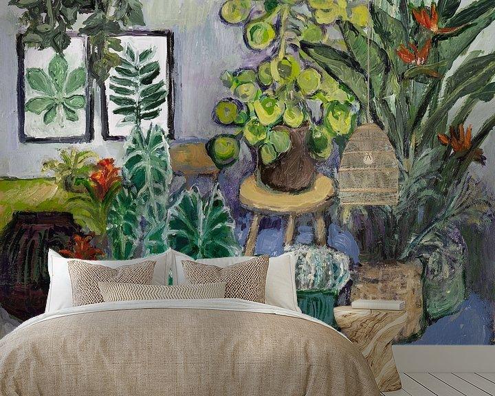 Sfeerimpressie behang: Botanisch stilleven (nr 3) van Tanja Koelemij