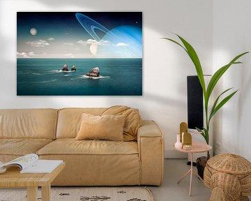 Buitenaards landschap van Manjik Pictures