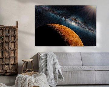 Planeet Mars in het zonnestelsel van Manjik Pictures