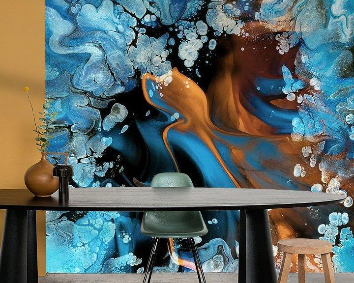Sfeerimpressie behang: Fire & Ice van Jacky