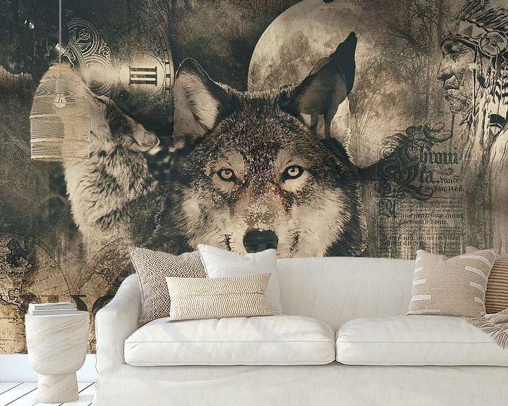 Beispiel fototapete: Der Wolf von Bert Hooijer