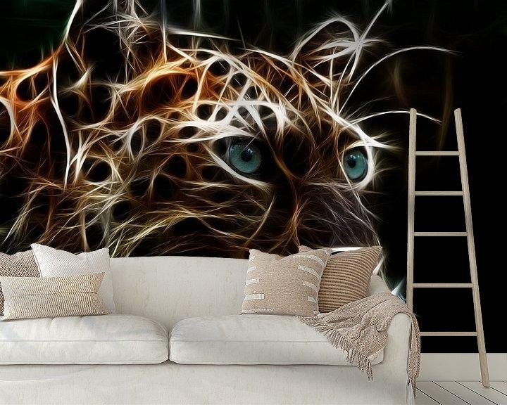 Beispiel fototapete: Der Leopard von Bert Hooijer