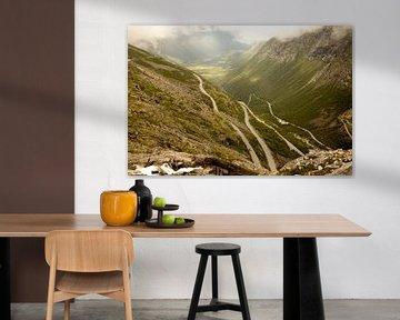 Landschaftsaufnahme der Trollstigen-Route in Norwegen von Karijn | Fine art Natuur en Reis Fotografie