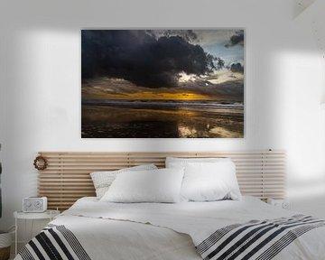 Julianadorp - Sonnenuntergang am Meer von Stephan Zaun
