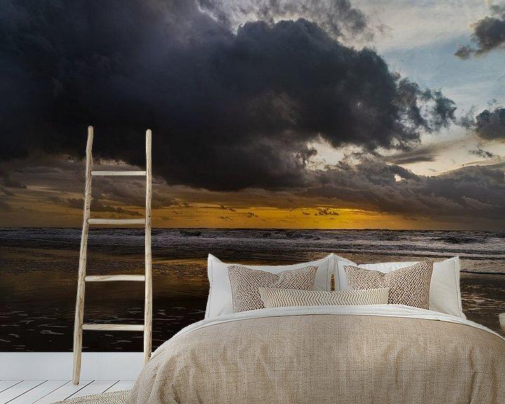 Beispiel fototapete: Julianadorp - Sonnenuntergang am Meer von Stephan Zaun