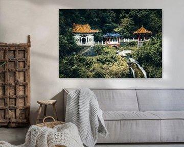 Temple dans le parc national des gorges de Taroko à Taïwan sur Expeditie Aardbol