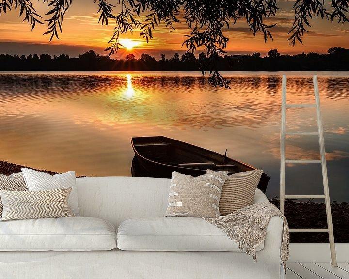 Beispiel fototapete: Ruderboot am See von Marcus Lanz