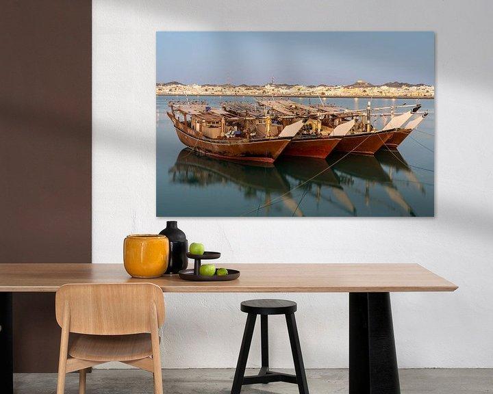 Sfeerimpressie: Dhows op Masirah Eiland Oman van Jeroen Kleiberg