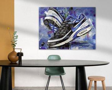 Nike Air Classic BW Black Persian Violet peinture sur Jos Hoppenbrouwers