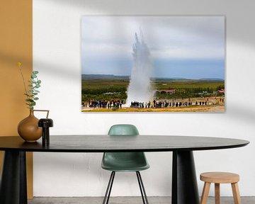 Strokkur geyser, IJsland van Henk Meijer Photography