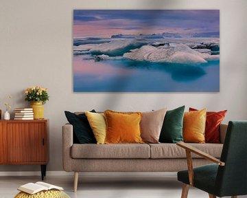 Zonsopkomst Jokulsarlon, IJsland van Henk Meijer Photography