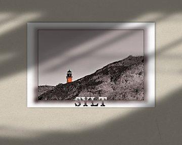 Leuchtturm auf Sylt hinter Dünen versteckt von Stephan Zaun