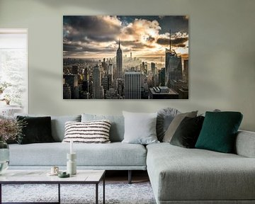 Manhattan Skyline NYC von Munich Art Prints