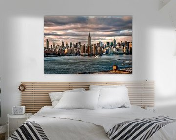 Skyline Manhattan, USA van Munich Art Prints