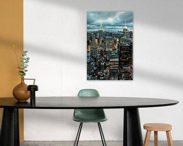 Binnenkomende Storm NYC van Munich Art Prints
