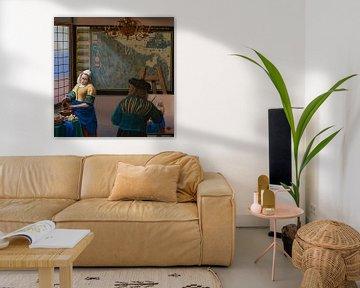 Ode an die Malerei von Johannes Vermeer von Paul Meijering