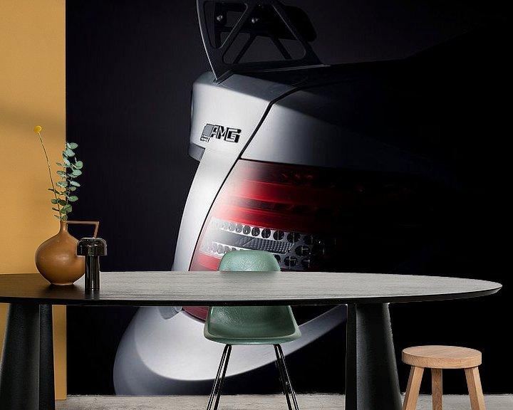 Sfeerimpressie behang: MERCEDES-BENZ C63 AMG BLACK SERIES van Thomas Boudewijn