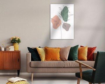 Wildblume in Pastell von Munich Art Prints