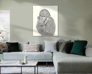 Mutter Teresa mit Kind. von Jose Lok