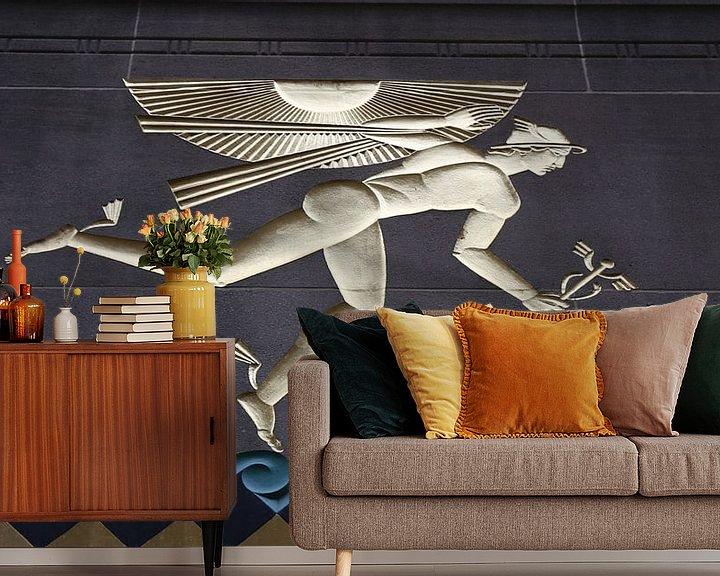 Beispiel fototapete: Götterbote Hermes in New York City von Christine aka stine1