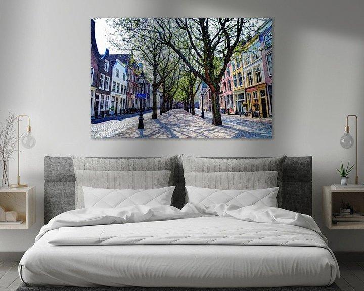 Sfeerimpressie: Hooglandse Kerkgracht Leiden Nederland van Hendrik-Jan Kornelis