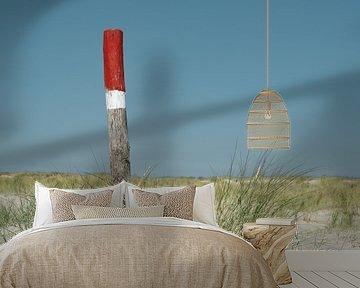 Strandpaal op het strand van Timo Brodtmann Fotografie