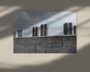 Hochhäuser in einer Reihe von David Heyer