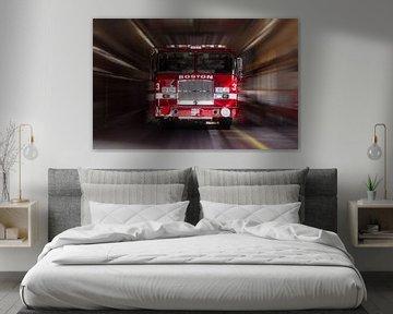 Amerikaanse brandweerauto, Boston van Nynke Altenburg