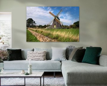 Windmolen van Nebel, Amrum, Duitsland van Alexander Ludwig