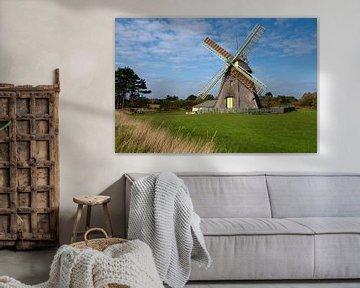 Windmühle von Nebel, Amrum, Deutschland von Alexander Ludwig