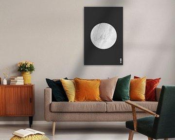 Minimal Marble Light - Minimalistische Print van MDRN HOME