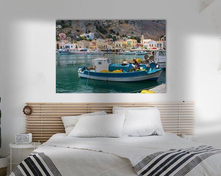 Sfeerimpressie: Vissershaven in Griekenland van Lifelicious