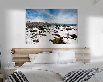 Schneelandschaft in Island