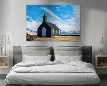 Schwarze Kirche in Island