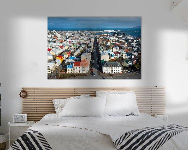Sfeerimpressie: Uitzicht op Reykjavik, IJsland van Lifelicious